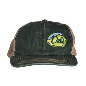 Del's Black Trucker Hat