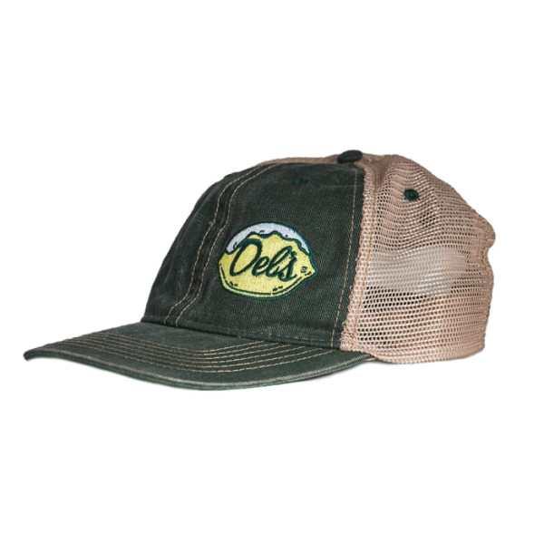 Del's Black Trucker Hat