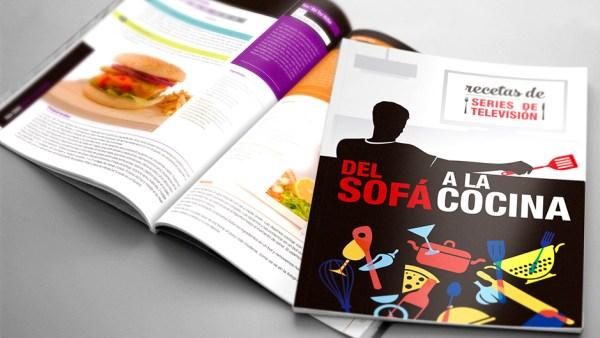 Libro recetas seriéfilas Del Sofá a la Cocina Verkami