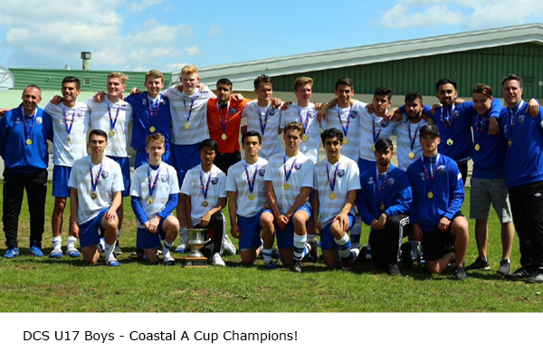U17 Boys Coastal A Cup Champions 2017