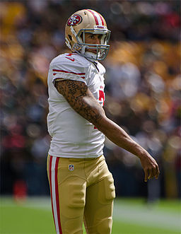 Colin Kaepernick in 2012. photo courtesy of Wikimedia Commons.