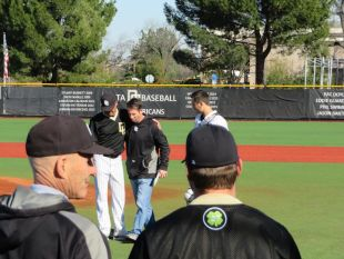 Baseball home opener pays tribute to fellow Mustang