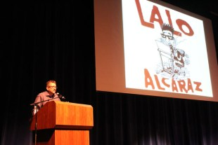 Lalo Alcaraz speaks at Delta