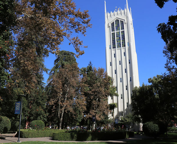 University of the Pacific's infamous Burns tower.