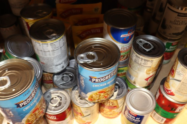 An example of easy opening cans in the ASDC Pantry. Photo by Vivienne Aguilar.