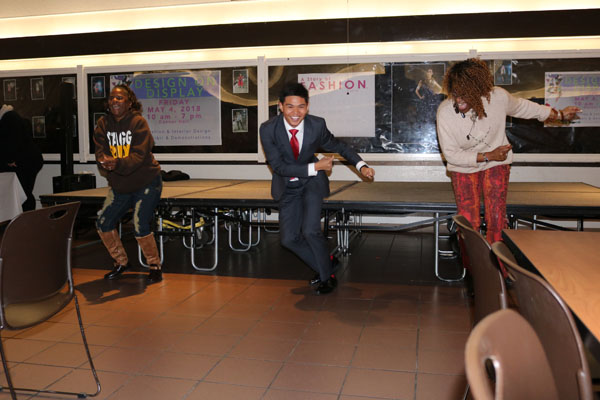 ASDC and students dance to 70's throwbacks in Danner. Photo by Tyra Green
