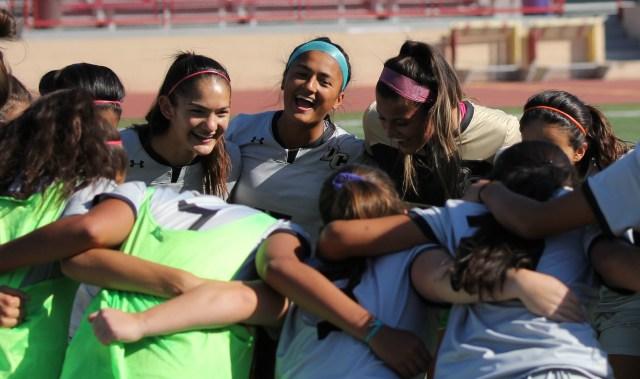 Women's Soccer Huddle