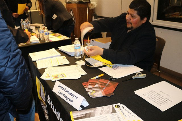 Ricardo Aguilar talks to participants in 2019's Dream Conference at Delta College. The event provides resources and workshops for undocumented students. This year's event takes place on Feb. 29.
