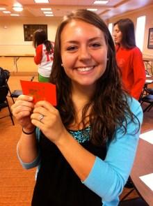 Sarah won a $25 gift card to Red Bowl