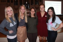 Some of our Executive Board members with Caitlin Boyle!