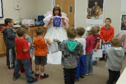 The Tooth Fairy teach good oral health habits at the Lion's Club. Photo courtesy of the Ponderosa Lion's Club.
