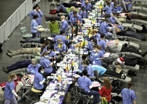 Nearly 300 dentists volunteered their time to help patients in need at the 2012 Arizona Mission of Mercy.
