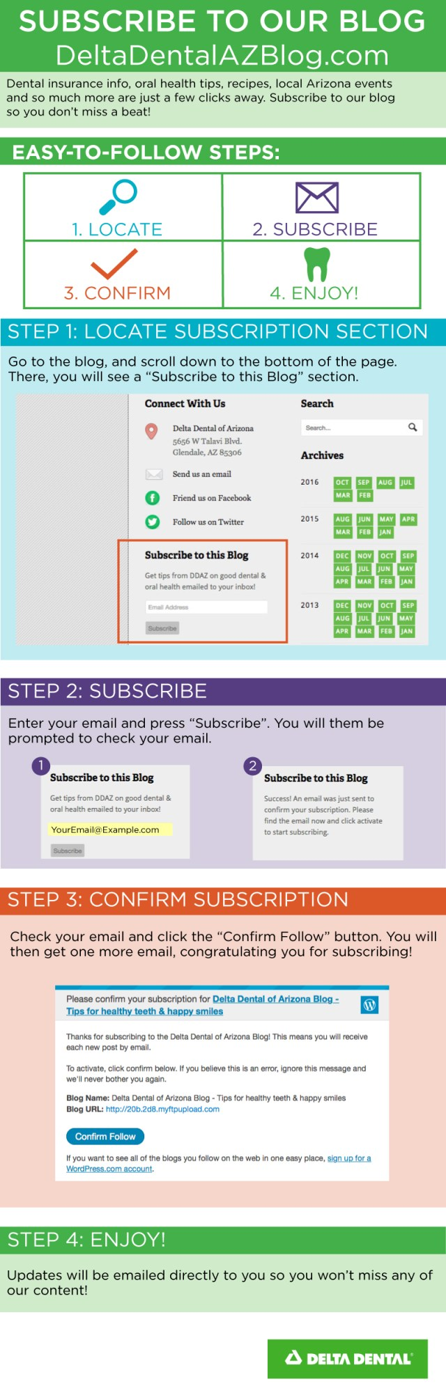 Blog Subscription Infographic