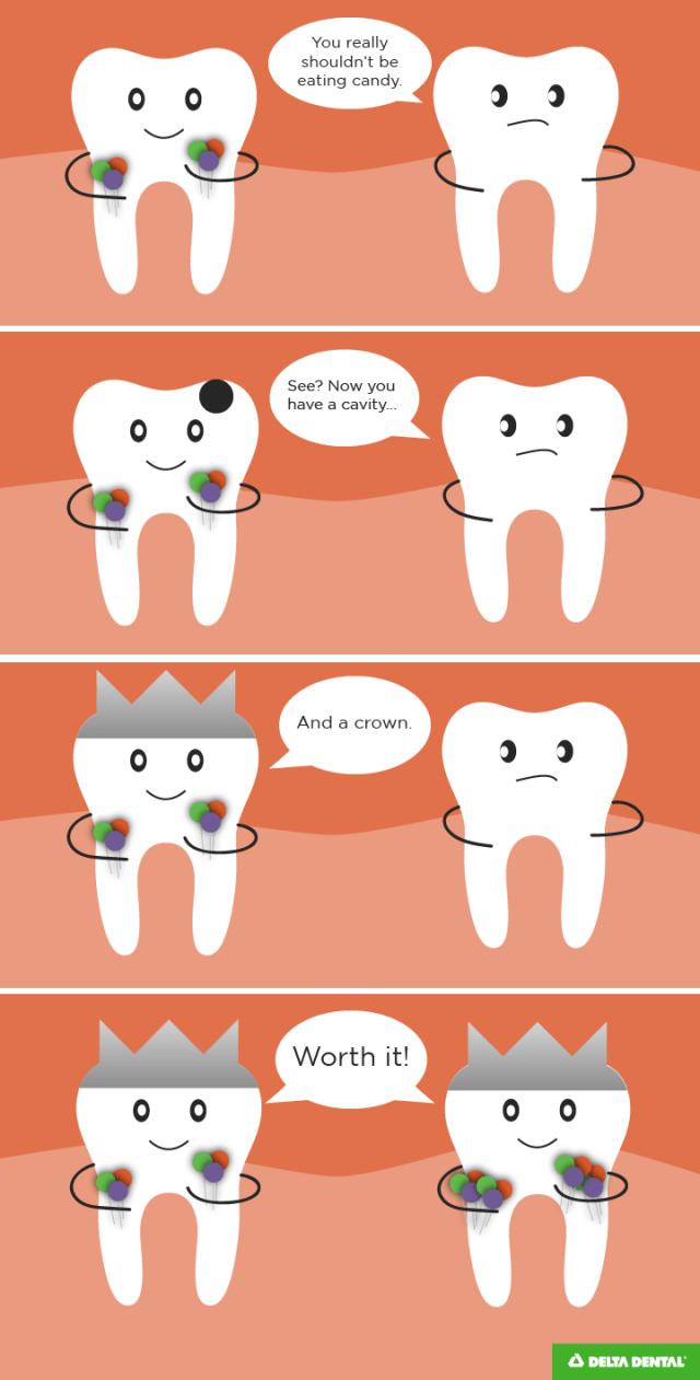 Dental crowns joke