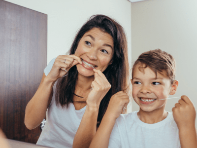 teach kids to floss