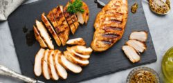 sliced chicken breast with dry rub marinade