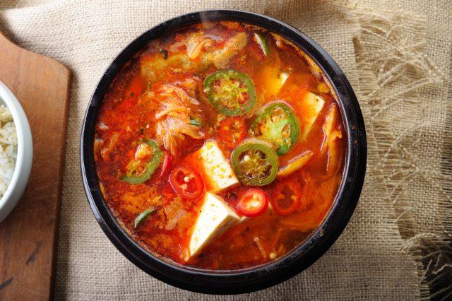 bowl of kimchi soup