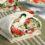 vegetarian spinach salad feta wrap