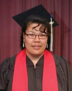 Baccalaureate Degree recipient Zoya Lenise Ayapan of Kwethluk.