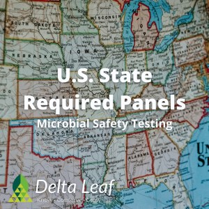 U.S. State Required Microbial Safety Testing Panels for Cannabis and Hemp