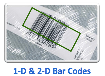 1-D and 2-D bar codes