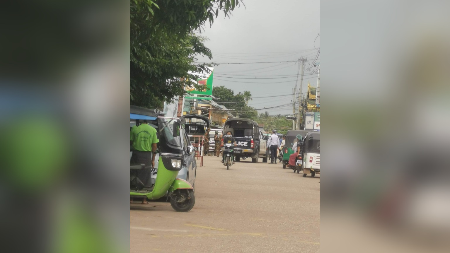 ပုသိမ်မြို့ စီးပွါးရေးဘဏ်ရှေ့က စစ်အုပ်စုလုံခြုံရေးဘန်ကာရှေ့ ဗုံးပေါက်