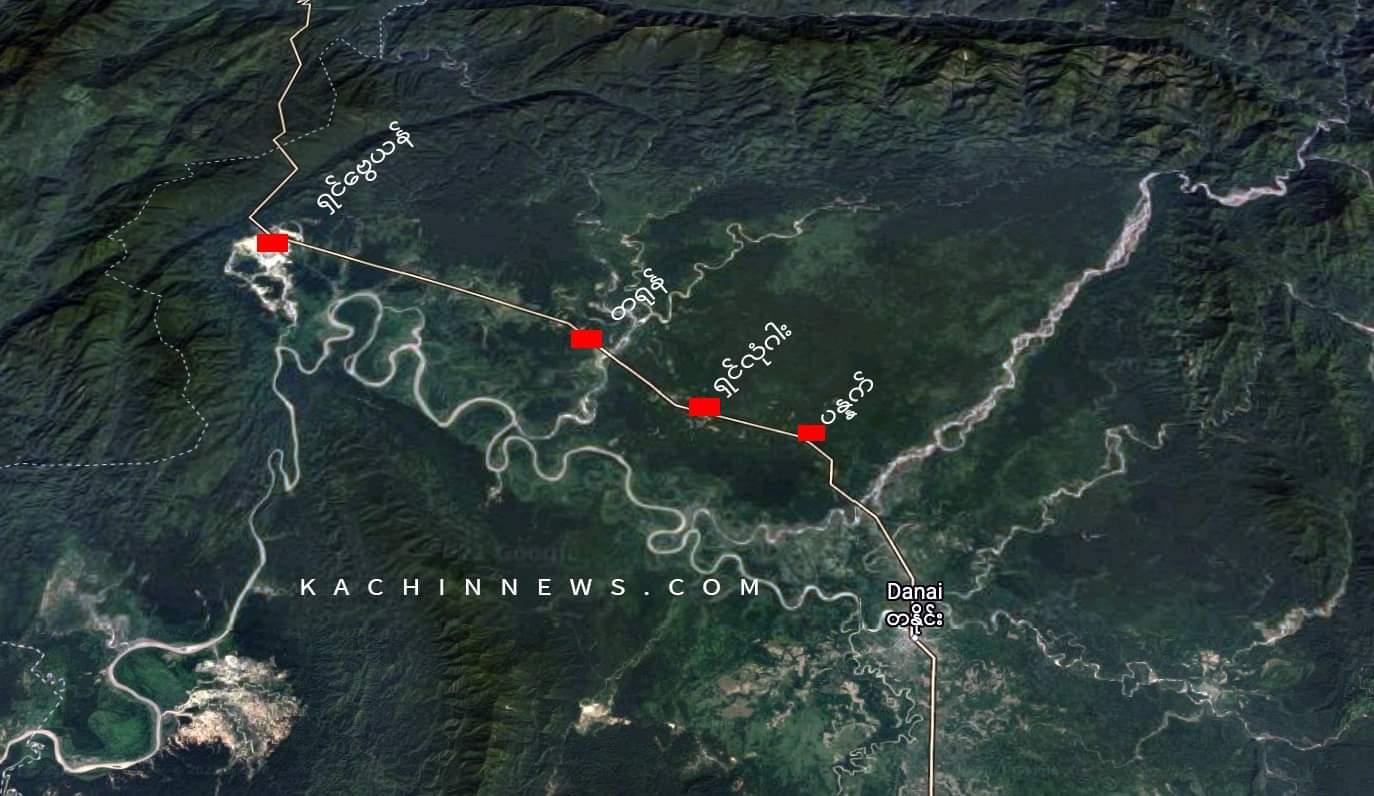 စစ်အုပ်စု တရုန်ကိုသွားမဲ့လမ်းကို KIA ပိတ်ဆို့ထား