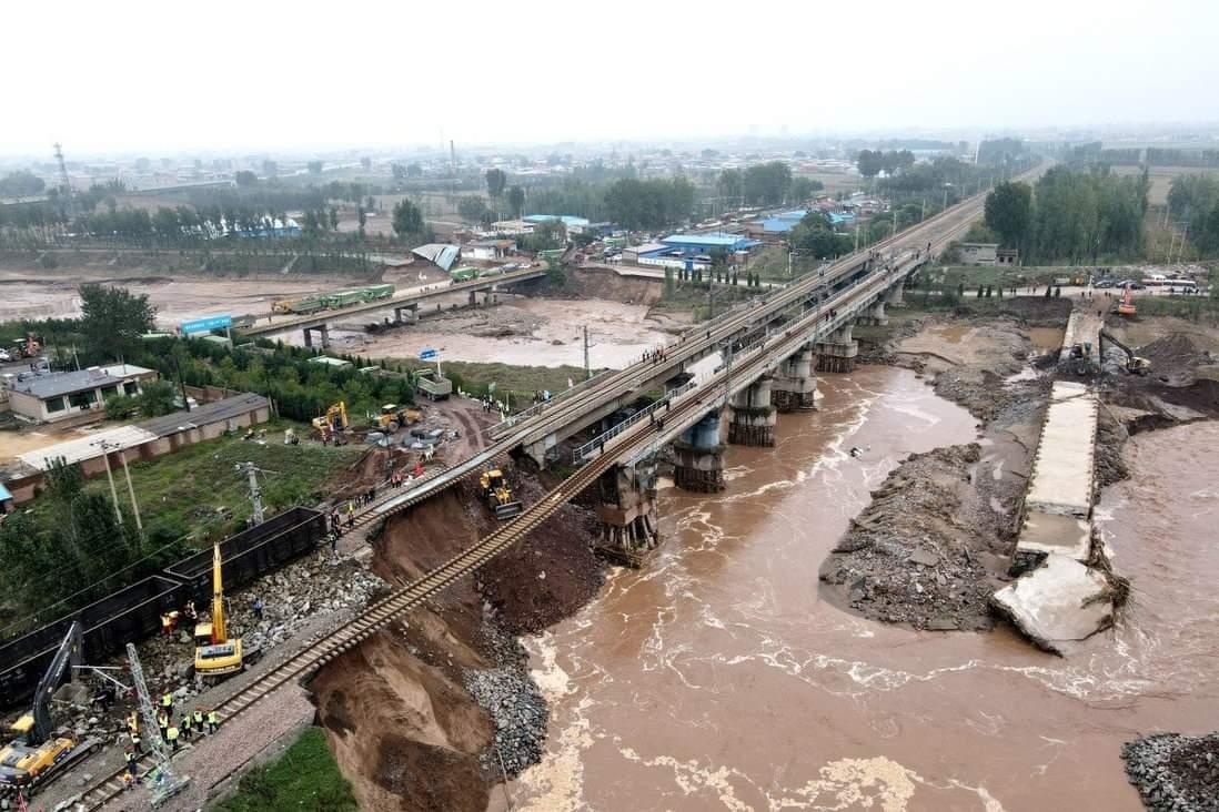 တရုတ်နိုင်ငံမြောက်ပိုင်းမှာ ရေလွှမ်းမိုးမှုဖြစ်နေလို့ ကျောက်မီးသွေးတူးဖော်ရေးလုပ်ငန်းတွေ ရပ်ဆိုင်း