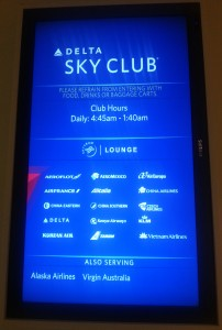 new delta LAX skyclub review delta points blog
