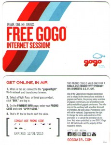 gogo single use free pass delta points blog