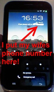 rene lock screen on this phone