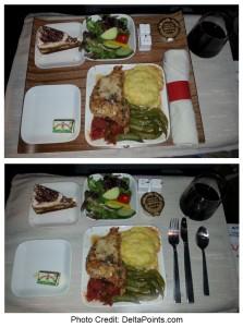 chicken dinner delta flight atl-sfo delta points blog