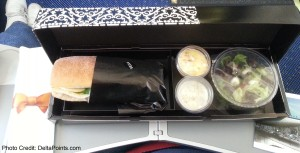 klm europe food short 1hr flight delta points blog