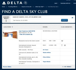 skyclubs at sfo airport delta points blog