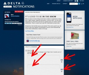 update your email delta web site delta points blog
