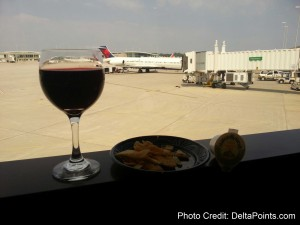 wine in skyclub mke before mileage run delta points blog