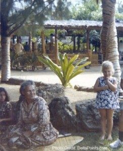 Lisa at the Polynesian Cultural Village - Hawaii 1971