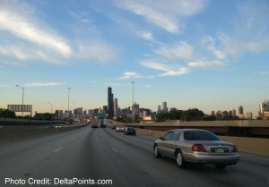 drive through chicago on my way to MKE delta points blog