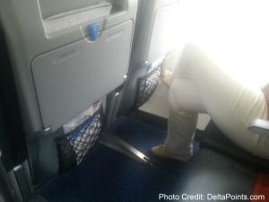new slimline fixed seats klm regional jet business class Franfurt to Amsterdam delta points blog 3