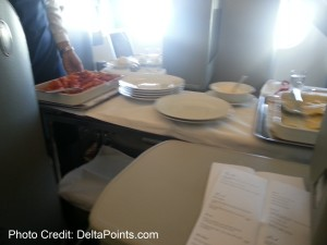 Alitalia Magnifica Class Business seat review delta points blog (12)