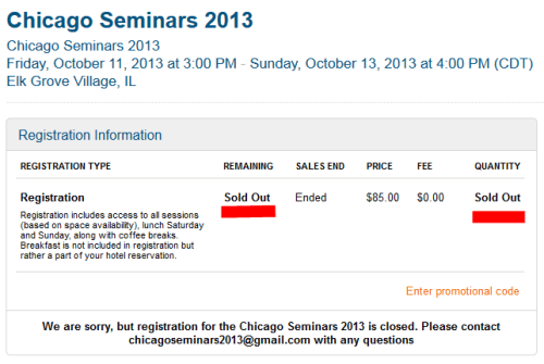chicago seminars 2013