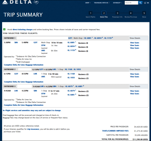 cost business class with stopover delta points blog