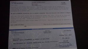 fake check from skyrewards from facebook delta page