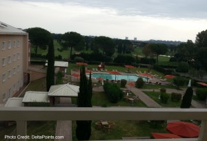view from our room sherton rome delta points blog