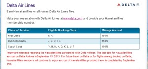 can not earn hawaiianmiles flying delta anymore