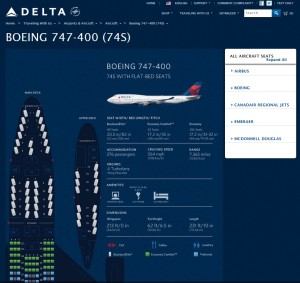 delta seat map for 747