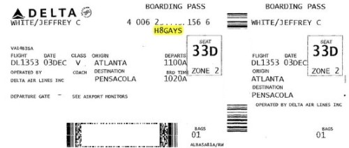 H8GAYS Delta boarding pass