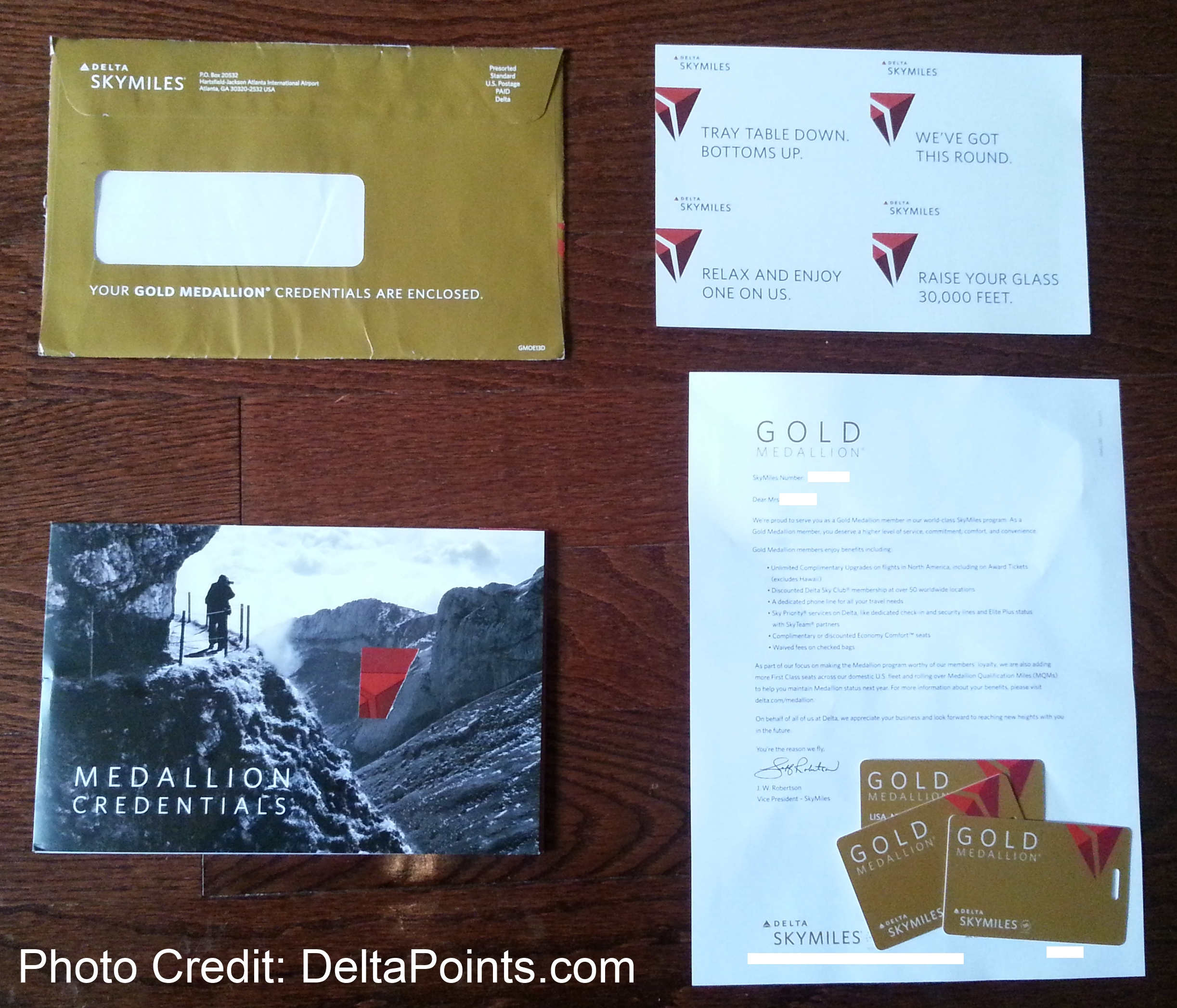 Lisa's gifted GOLD medallion credentials have arrived! Let's see what is inside ...