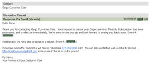 refund from gogo