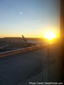 Sunset tail art SEA airport Delta Points mileage run to hawaii (1)